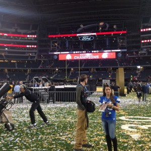 AT & T Field Wide Shot Postgame OSU Nati Champions 1-12-15