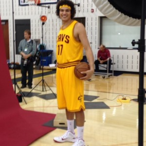 Anderson Varejao Standing and Smiling Photo Cavs Media Day 2014