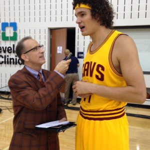 Anderson Varejao with Kenny Roda - Media Day 2014