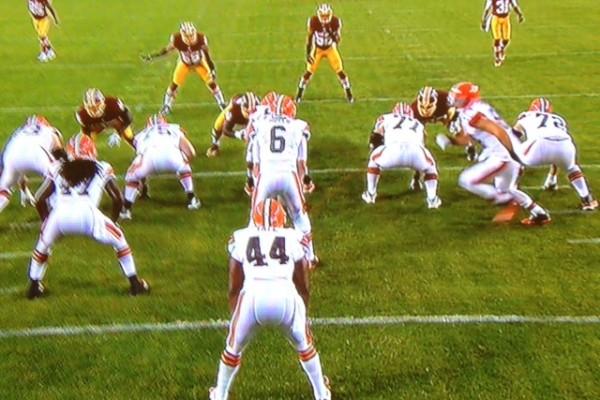 Brian Hoyer In Game Wide Shot vs Redskins