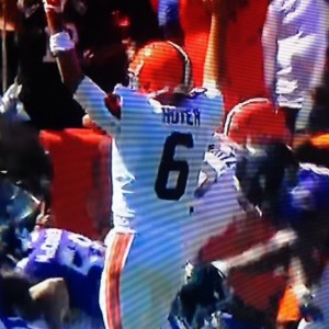 Brian Hoyer TD Signal vs Ravens