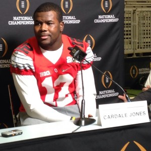 Cardale Jones Media Day Close Up Photo 1-10-15