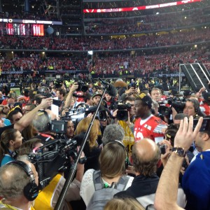 Cardale Jones Mobbed Postgame On Field Celebration-Interviews Nati Championship Game 1-12-15