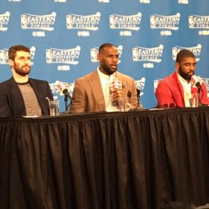 Cavs Big 3 at Podium ECF Game 2