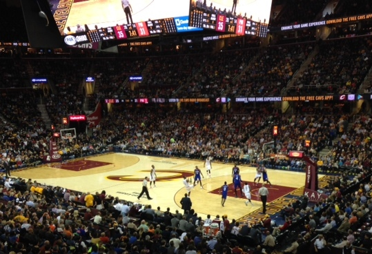 Cavs Game Wide Shot 2015