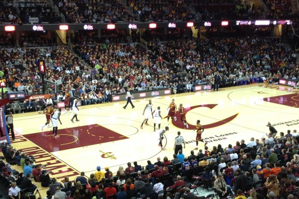 Cavs Game Wide Shot at The Q 3-8-14