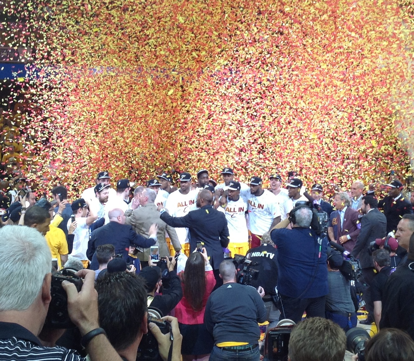 Cavs Halfcourt Celebration Eastern Conference Finals