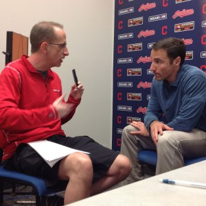 Chris Antonetti & Kenny Roda Interview Photo Spring Training 2-26-15