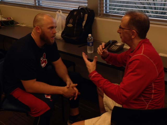Cody Allen Interview Photo Spring Training 2015