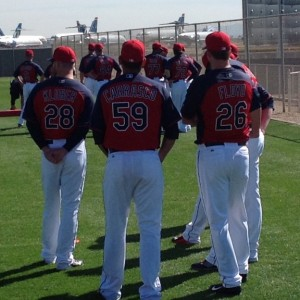 Corey Kluber, Carlos Carrasco and Gavin Floyd - Spring Training 2015