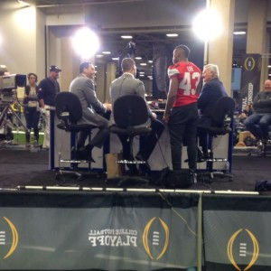 Darron Lee on SportsCenter Media Day Nati Championship 1-10-15