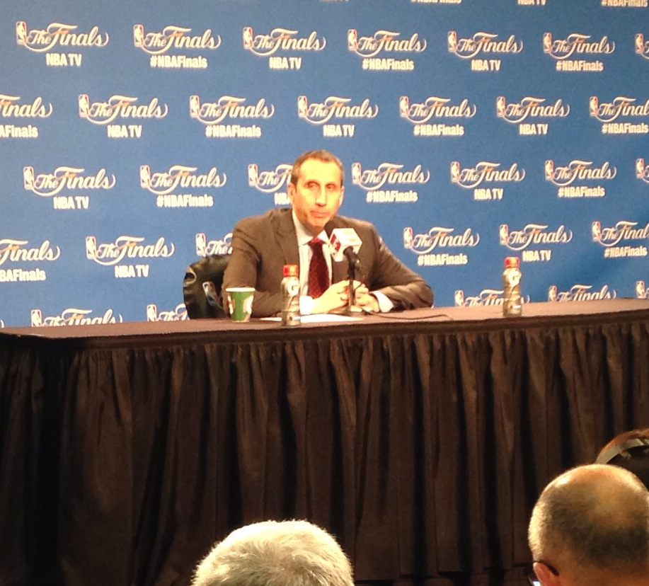 David Blatt Photo Postgame Presser Game 6 NBA Finals