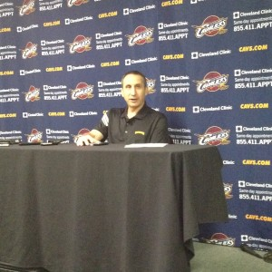 David Blatt Post-game Photo 10-1-14