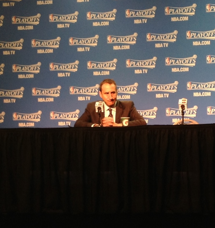 David Blatt Postgame Photo vs Bulls Game 1  -  5-4-15