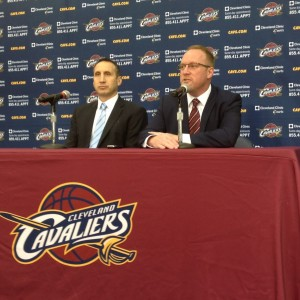 David Blatt and David Griffin Podium Photo Meida Day 2014
