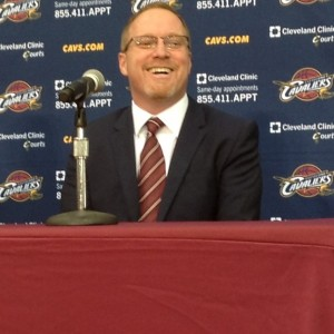 David Griffin Smiling at Podium Media Day 2014