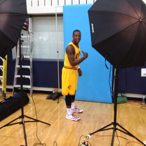 Dion Waiters #3 - Flexing - Cavs Media Day 2014