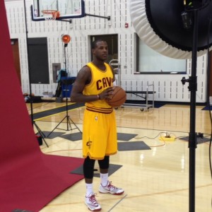Dion Waiters Photo Op - Cavs Media Day - 9-26-14
