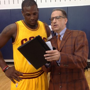 Dion Waiters and Kenny Roda Cavs Media Day 2014