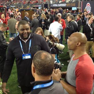 Eddie George and Orlando Pace Pregame Photo Nati Championship 1-12-15