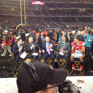 Evan Spencer Joins the Big Ten Network for a Postgame Interview Nati Championship 1-12-15