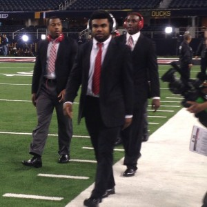 Ezekiel Elliott Arrives For Nati Championship Game 1-12-15