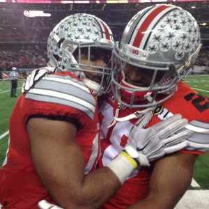 Ezekiel Elliott and Warren Ball Celebrating After TD Nati Championship Game 1-12-15