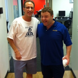 Frank Caliendo and Kenny Roda photo