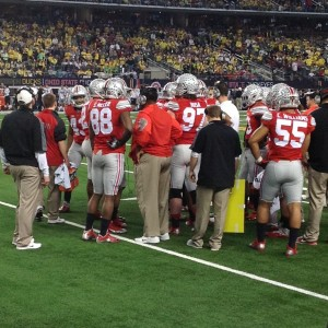In Game OSU Defense Time Out Meeting Nati Championship 1-12-15