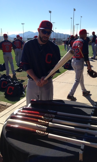 Jason Kipnis Spring Training Bat Selection