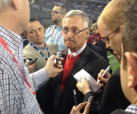 Jim Tressel before Nati Championship Game 1-12-15