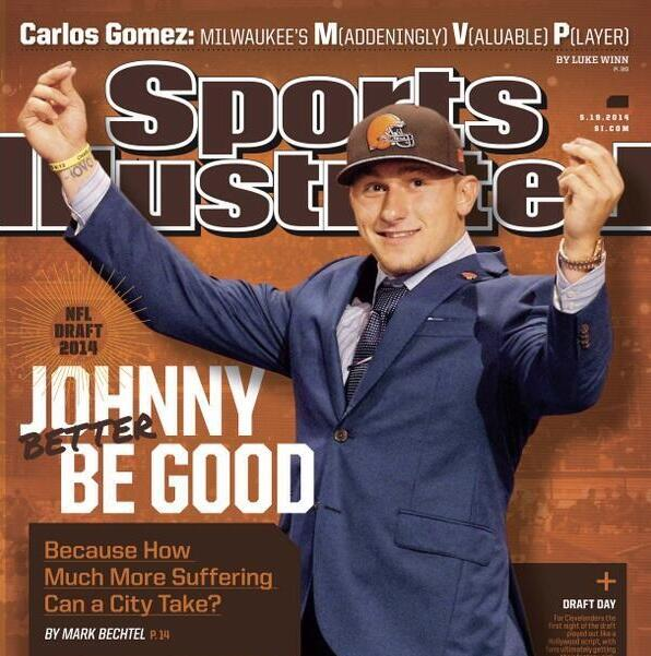 Johnny Manziel Browns SI Cover Photo