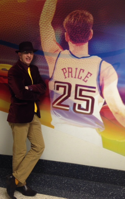 Kenny Roda Wine Fedora and Jacket Photo with Mark Price Picture at The Q