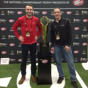 Kenny and Cameron with National Championship Trophy Media Day 1-10-15 - Copy