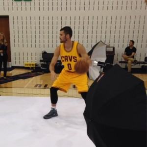 Kevin Love Dribble Photo Cavs Media Day 2014