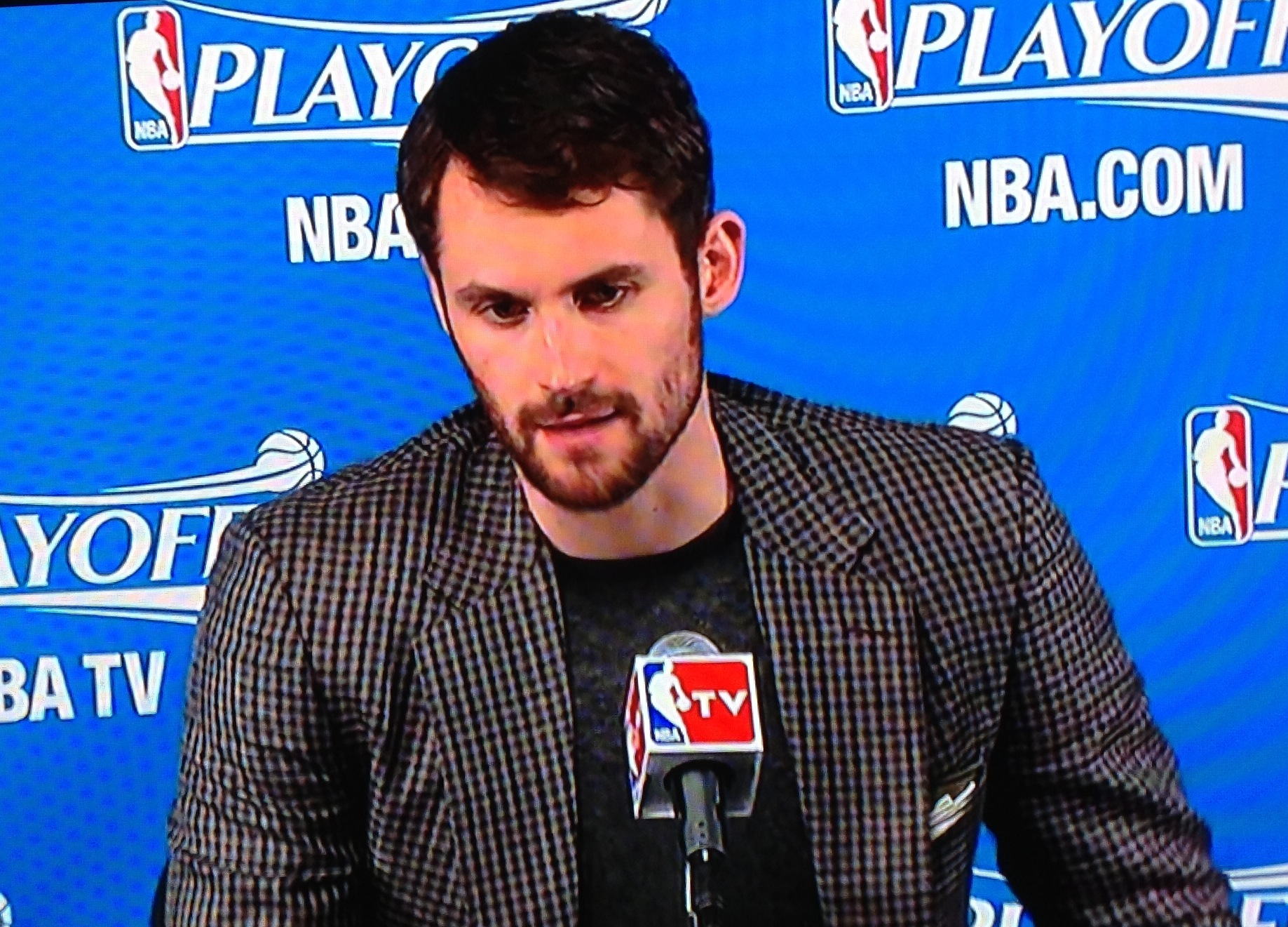 Kevin Love Podium Postgame Boston Game 3
