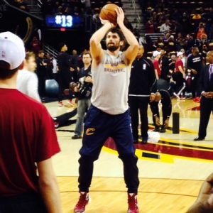 Kevin Love Pregame FT