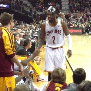 Kyrie Irving Bench Photo