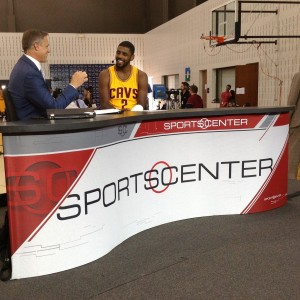 Kyrie Irving On SportsCenter Set Media Day 2014