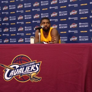 Kyrie Irving Podium - Cavs Media Day 2014