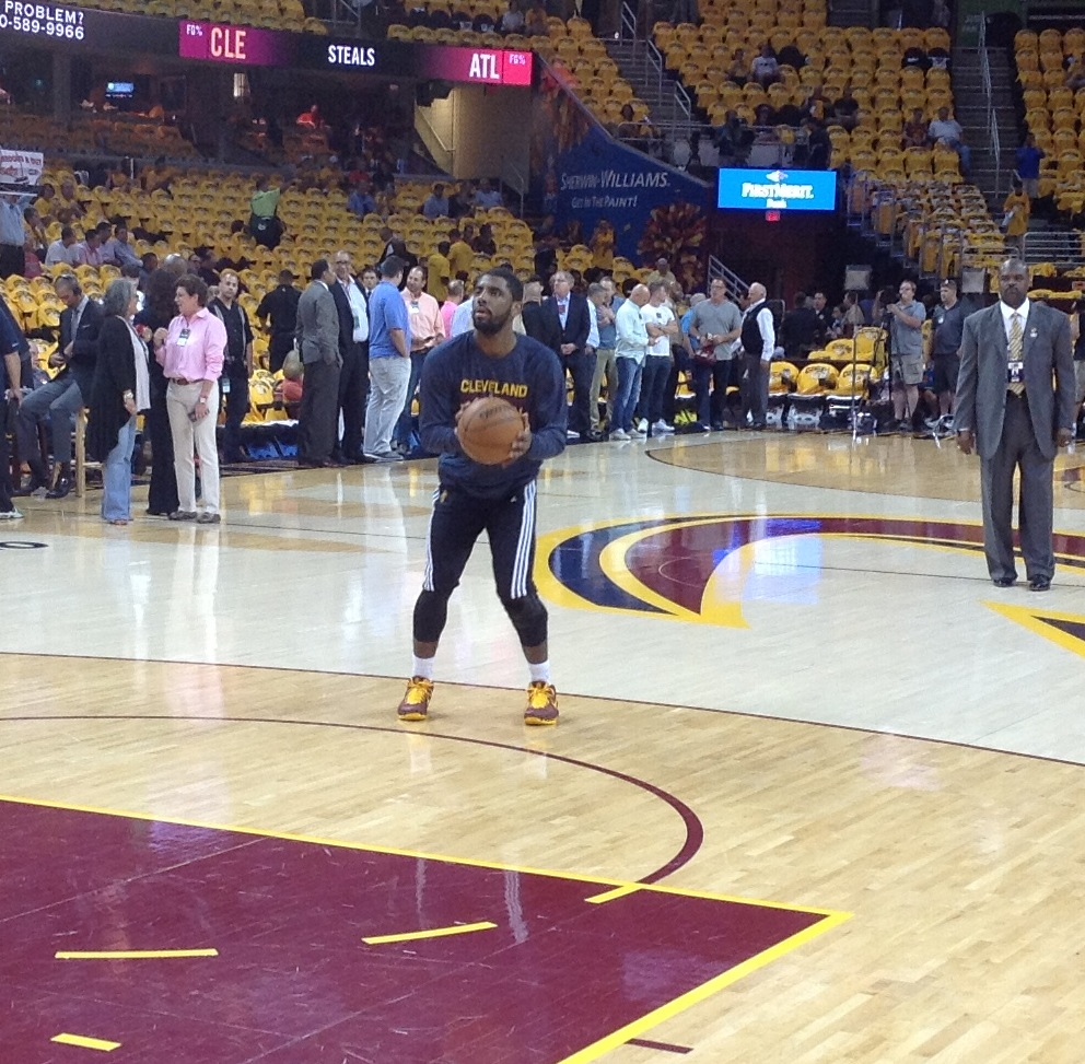Kyrie Irving Pregame Jumper Game 4 - ECF