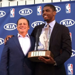 Kyrie Irving and Dan Gilbert ROY photo