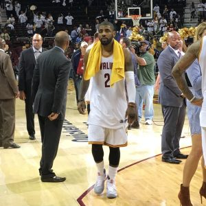 Kyrie Walking Off Court