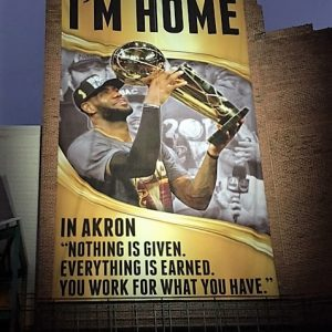 LeBron James Akron Banner - I'm Home (2)