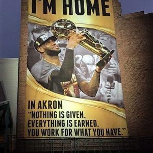LeBron James Akron Banner - I'm Home (2)