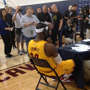 LeBron James Back To Me Interview Media Day 2014