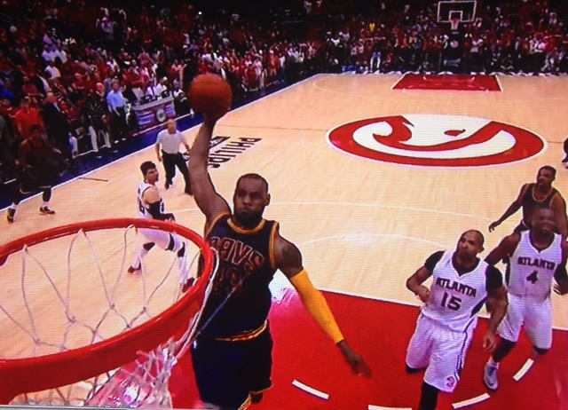 LeBron James Dunk vs Hawks Game 1 - ECF