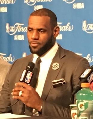 LeBron James Game 6 NBAFinals 2016 Podium
