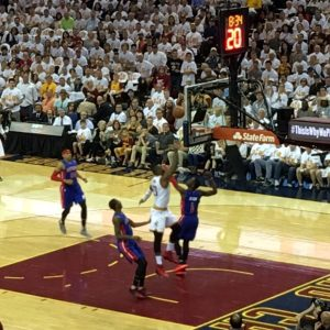 LeBron James In Game Lay Up Game 1