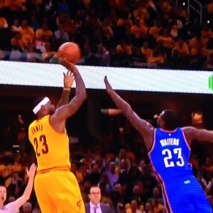LeBron James Jumper Over Dion Waiters 1-25-15